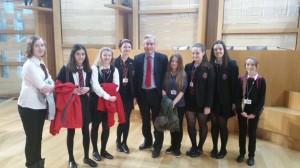 North Berwick HS editorial team at Holyrood
